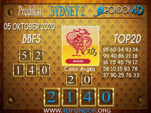 Prediksi Togel SYDNEY 2 PONDOK4D 05 OKTOBER 2020