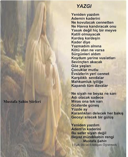 Mustafa Şahin Şiirleri
