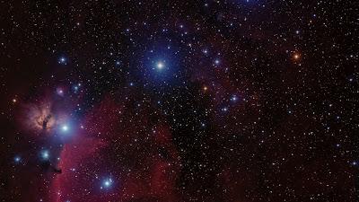 Wallpaper Orion Belt, Stars, Nebula, Space
