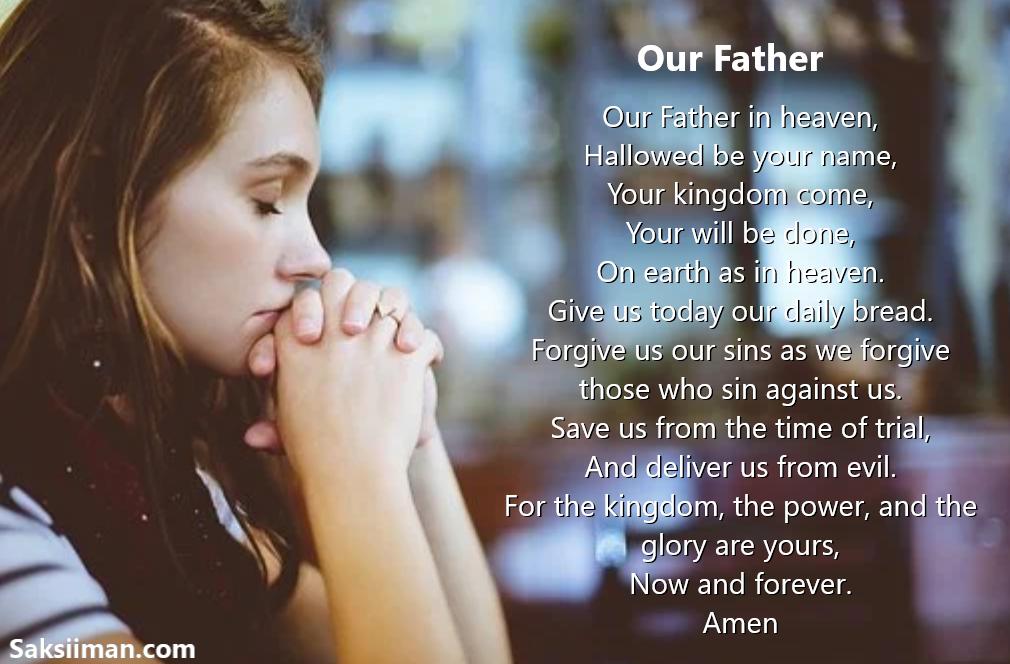 Gambar Doa Bapa Kami Bahasa Inggris