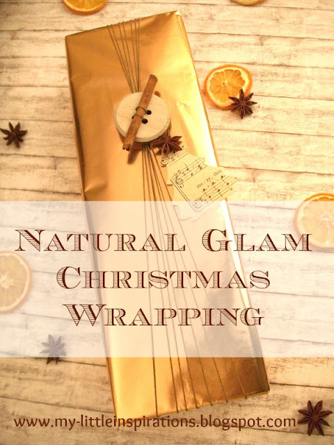 Pacchetto regalo per Natale Natural Glam - titolo - My Little Inspirations