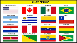 Bendera Negara Benua Amerika