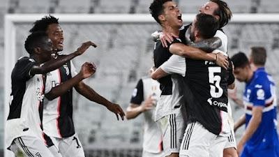 Kalahkan Sampdoria, Juventus Juara Liga Italia 9 Kali Berturut-turut