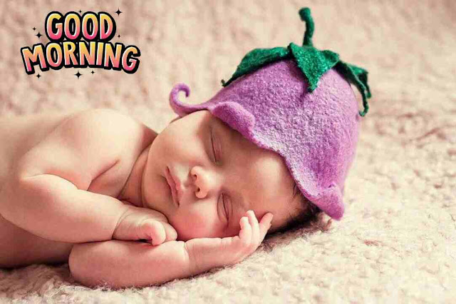 Awesome good morning image of cute baby