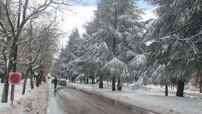 Maroc- début d'année glacial- temps froid et chutes de neiges du vendredi au lundi