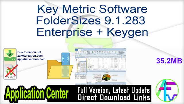 Key Metric Software FolderSizes 9.1.283 Enterprise + Keygen