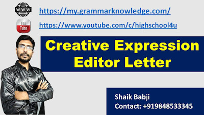 Creative Expression Editor Letter