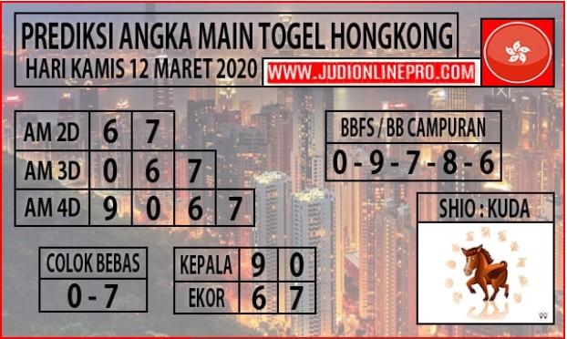 Prediksi Togel Hongkong Malam Ini Kamis 12 Maret 2020 - Prediksi Angka Main HK