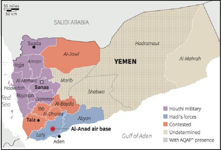 Peta Negara Yaman
