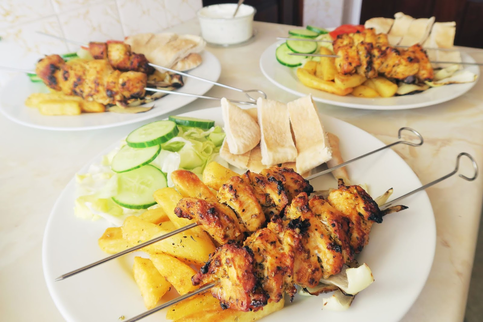 Another photo of the chicken souvlaki