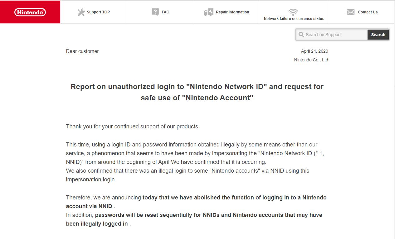 Nintendo confirms account hacks: 160,000 accounts have been misused