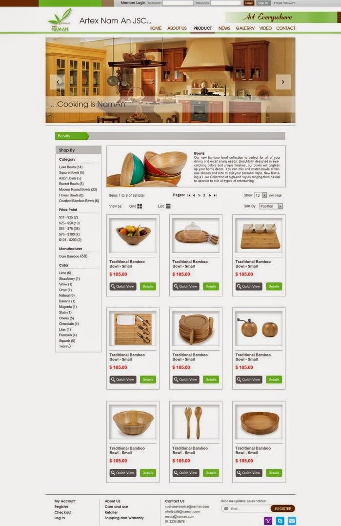 dịch vụ thiết kế web bán hàng thủ công mỹ nghệ