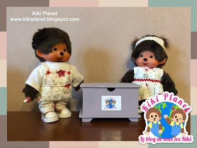 kiki Monchhichi bebichhichi coffre jouet toys chest handmade fait main miniature