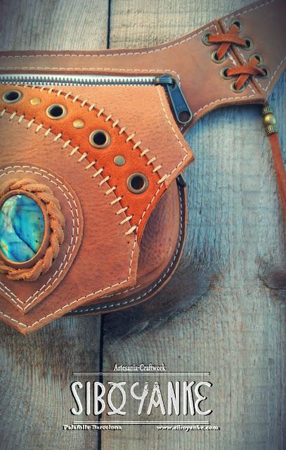 Leather Utility Belt-Festival Belt-Festival Utility Belt+Leather Waist Bag+Utility Belt Festival+Festival,Gürteltasche,Gemstones+Chrysocolla,Labradorite+Moonstone