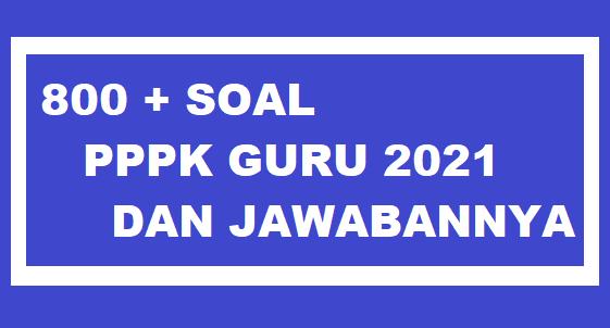 gambar 800 soal pppk guru 2021