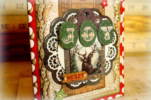 Joy Card by Romy Veul for BoBunny featuring Christmas Collage 2