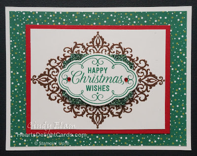 Heart's Delight Cards, Flourish Filigree, Christmas Card, Stampin' Up!