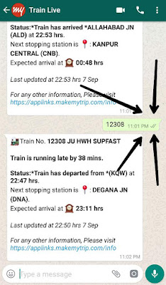 How To Check Train Live Status From WhatsApp.