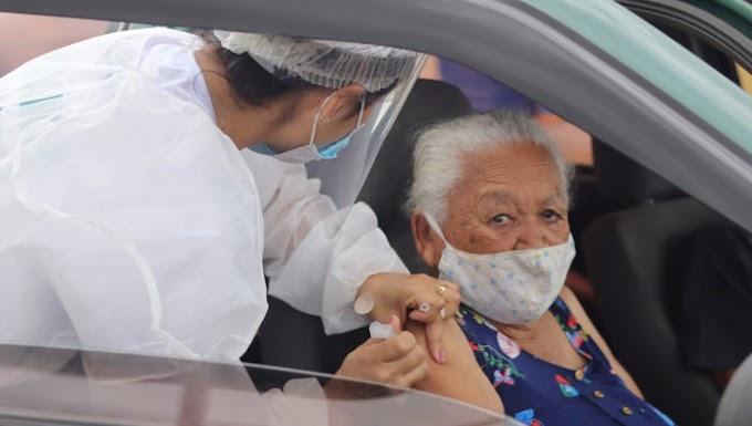 Segunda-feira (15) inicia as vacinações de pessoas com 77 anos ou mais