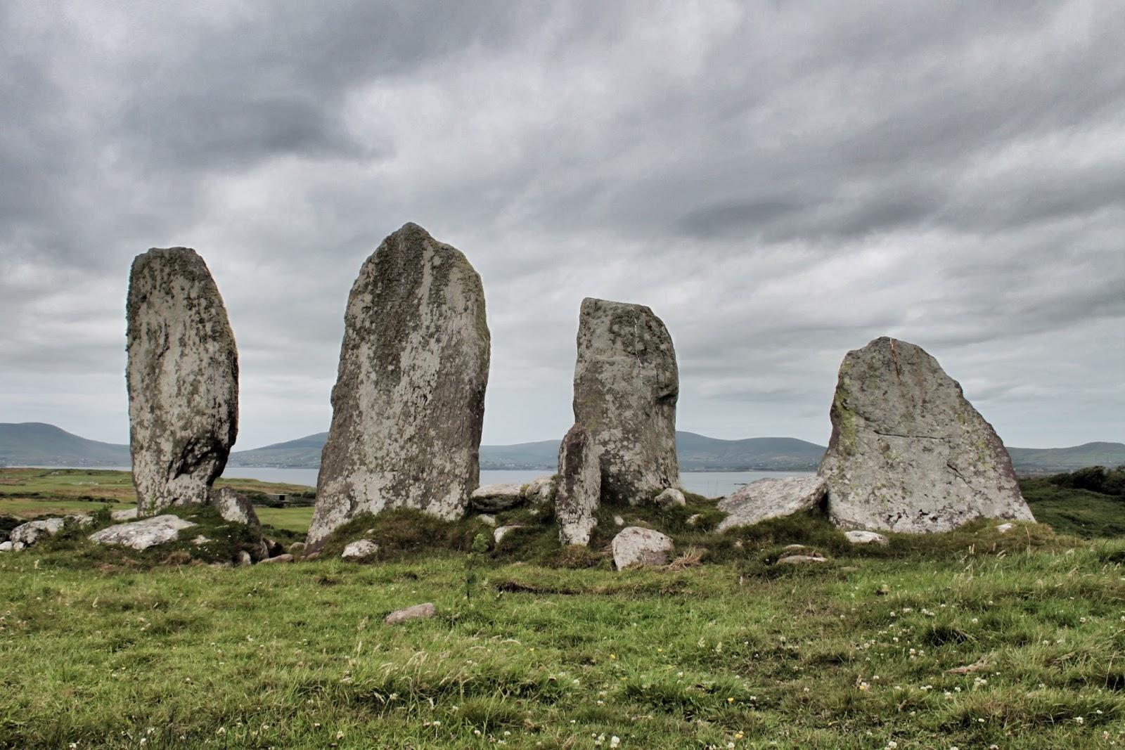 Eightercua stone row, Waterville, Kerry, Ireland