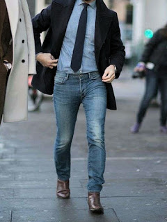 How to wear men's jeans Monday, Monday