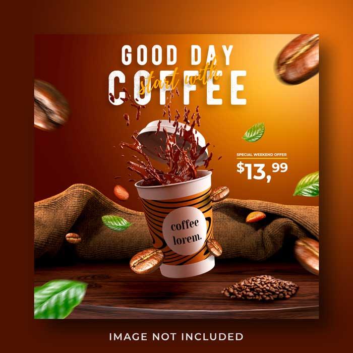 Coffee Shop Drink Menu Promotion banner