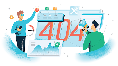 People with a big 404 page missing code