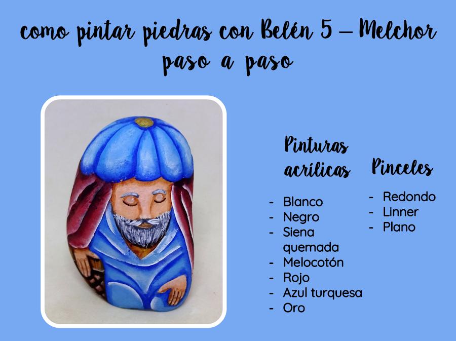 COMO PINTAR PIEDRAS CON BELEN