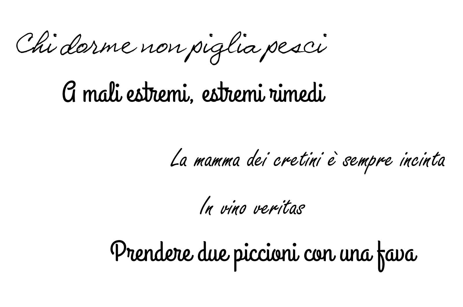 Włoskie przysłowia i powiedzenia — część pierwsza