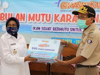BKIPM Bantu Pemkab Sleman  500 Paket  Ikan Beku