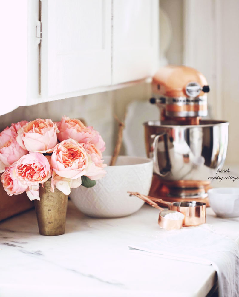 At Home | Pure Romance: Peonies & Carrara in a French Country Cottage