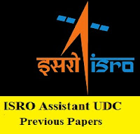 ISRO Assistant UDC Previous Papers