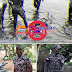 Recuperan cadáver de policía que se lanzó a aguas del río Yuna en Cotuí.