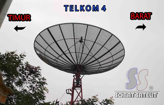 Cara tracking satelite telkom 4