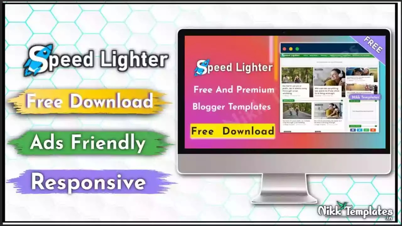 [Paid] Speed Lighter Responsive Blogger Template {Free Download}