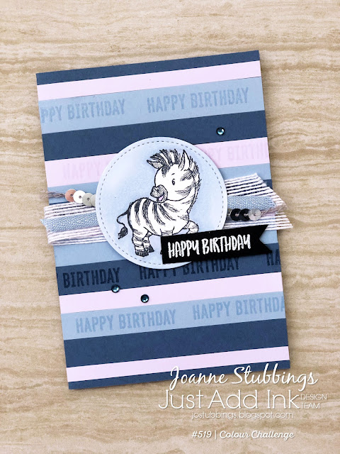 Jo's Stamping Spot - Just Add Ink Challenge #519 Card trio for beginner, casual and avid crafters using Zany Zebras stamp set by Stampin' Up!