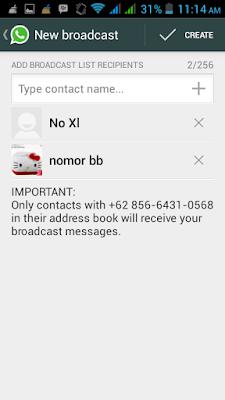 fitur bc terdapat juga di aplikasi whatsapp 6 Cara bc kontak di wa