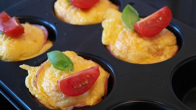 Recetas Keto: muffins de huevo proteicas