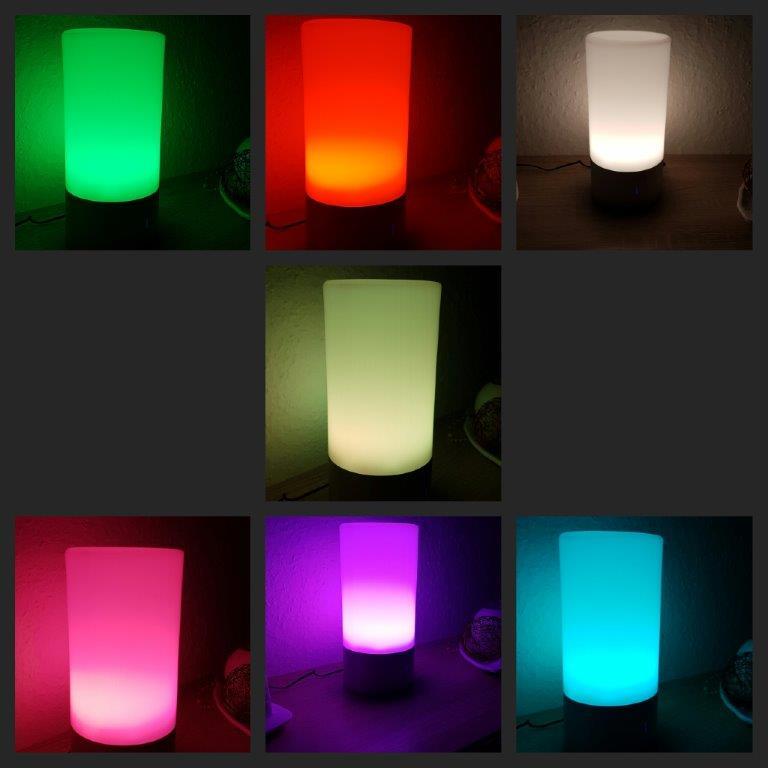 Heike testet: AUKEY LED Farbwechsel Lampe - wunderschöne Tischlampe