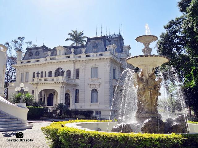 Palacete Violeta (fotocomposição com a Fonte do Amor)