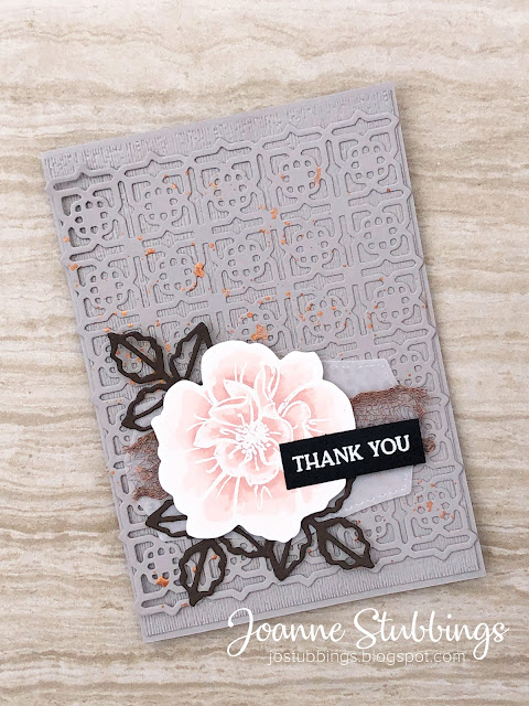 Jo's Stamping Spot - Colour INKspiration Challenge #CI78 using To A Wild Rose bundle and Many Medallions dies by Stampin' Up!