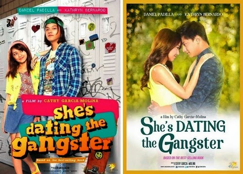 She's Dating The Gangster poster 1 vs poster 2