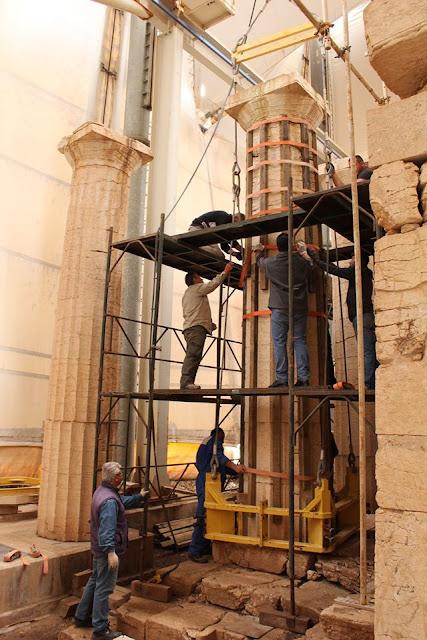 Προχωρά η αναστήλωση του Nαού του Επικούριου Απόλλωνα στις Βάσσες