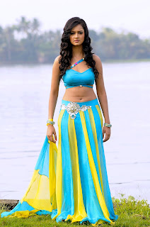Shanvi Looks stunning in Blue Choli and Skirt Style Ghagra for Movie Adda