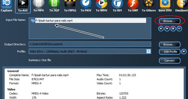 Convertir des Fichiers Vido au format MP3, MP4, AVI en HD