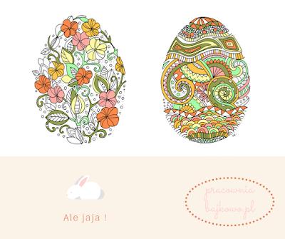 219 * Wielkanocne pisanki do kolorowania