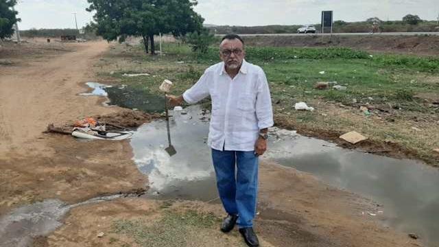 VÍDEO: Vereador Zé Gonçalves denuncia galeria estourada no Distrito de Santa Gertrudes, em Patos.