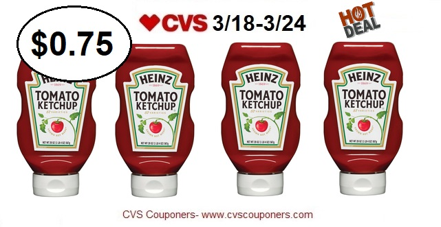 http://www.cvscouponers.com/2018/03/hot-pay-075-for-heinz-ketchup-with-this.html