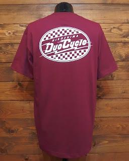DUO CYCLE デュオサイクル ロゴ Tシャツ バーガンディ