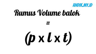 balok, rumus volume balok, volume balok, menghitung volume balok,